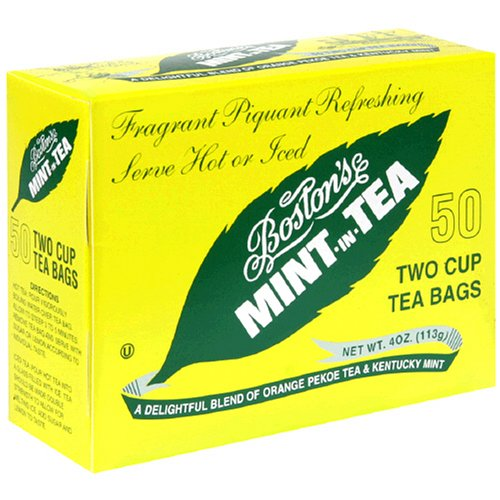 Buy Boston Tea Mint-In-Tea, 50-Count Boxes (Pack of 6) (Boston Tea, Health & Personal Care, Products, Food & Snacks, Beverages, Tea, Black Teas)