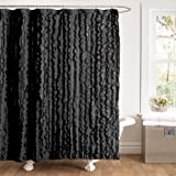 Lush Decor Modern Chic Shower Curtain, 72 by 72-Inch, Black