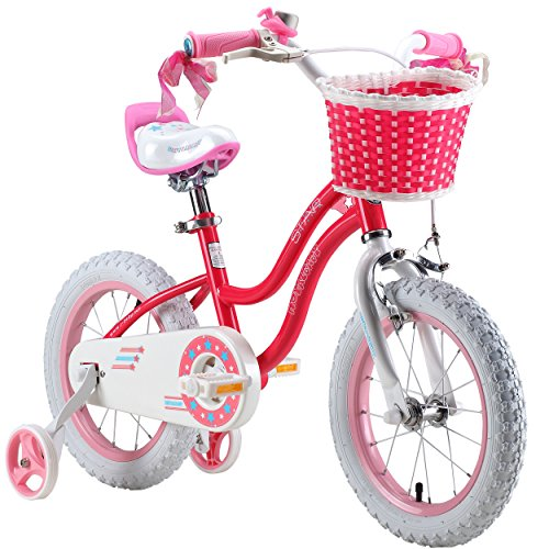 Check Out This RoyalBaby Stargirl Girl's Bike with Training Wheels and Basket, Perfect Gift for Kids...