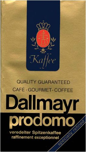 Dallmayr Gourmet Coffee, Prodomo (Ground), 8.8-Ounce Vacuum Packs (Pack of 4)