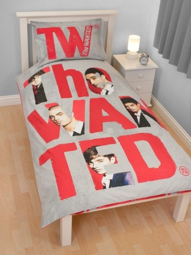 Cheapest Price! the Wanted 'Forever' Panel Single Bed Duvet Quilt Cover Set