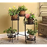 5 Tier Metal Plant Pot Stands Indoor and Outdoor Use Vintage Style