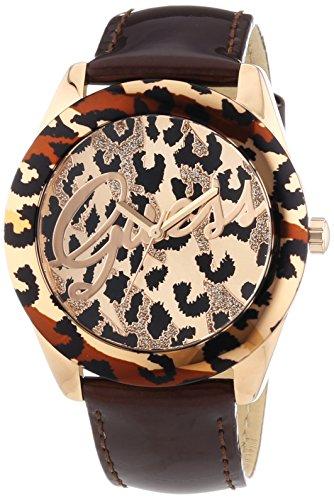 Guess W0455L3 - Reloj de cuarzo para mujer, correa de cuero color marrón