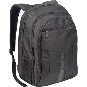 Targus Chromatic Backpack Designed to Protect 16 Laptops TBB060US (Black with Green Accents)