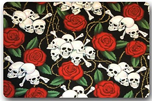 Old Tin Sign Concert Posters Dia De Los Muertos Suger Skull and Flower (H) Multifuntional Rectangle Metal Poster