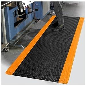 Supreme diamond foot anti fatigue floor mat black orange 3 39 x 75 39 x 9 16in kitchen - Orange kitchen floor mats ...