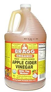 Bragg Organic Raw Apple Cider Vinegar, 128 Ounce - 1 Pack