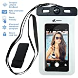 Voxkin ® ? PREMIUM QUALITY ? Universal Waterproof Case including ARMBAND ? COMPASS ? LANYARD - Best Water Proof, Dustproof, Snowproof Bag for iPhone 6S, 6, 6 Plus, 5, Galaxy S6 S5, Note 4 or Any Phone