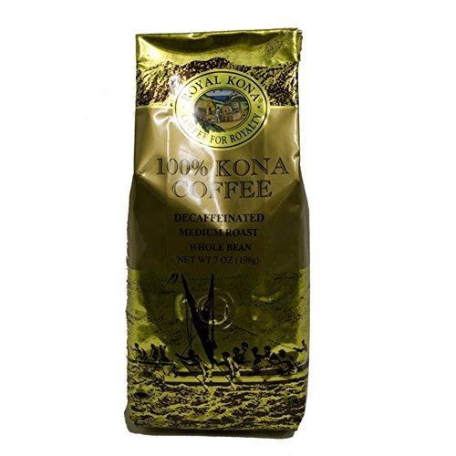 Royal Kona Coffee, Decaf, Medium Roast, Whole Bean, 0.44 Pound