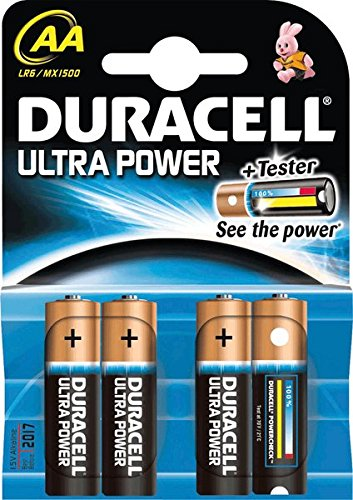 Duracell Piles alcalines Ultra Power/dur002562, AA, Inh. 4