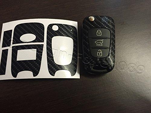 feuille-de-carbone-noir-paillete-decor-schlusseldekor-aspect-carbone-pour-kia-sportage-sorento-venga