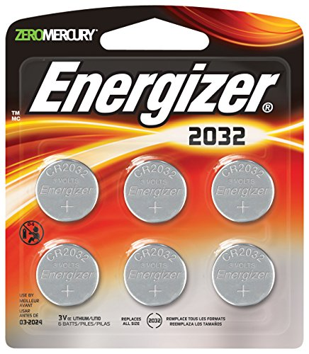 Energizer 2032 Lithium Batteries, 6 Count (Energizer Battery Cr2032 compare prices)