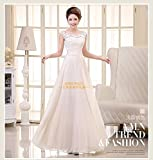 100% Brand New 2014 Chinese Classical Single Shoulder Strap Embroidered Bridal Gown Wedding Dress Evening Dress - White