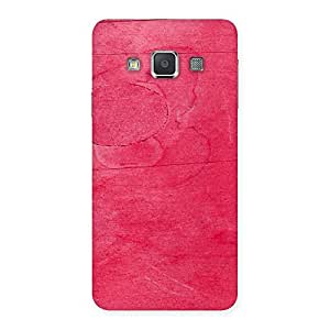 Pink Wood Work Multicolor Back Case Cover for Galaxy A3