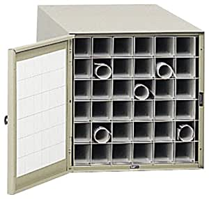 Safco Products 4962 Steel Roll File Horizontal Storage Cabinet, 36 Tube, Tropic Sand