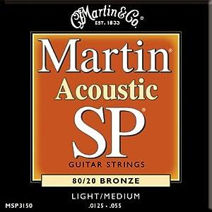 Martin MSP3150 Studio Performance 80/20 Bronze Light/Medium Acoustic Guitar Strings