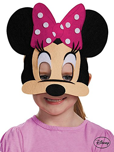 Disguise Costumes Minnie Mouse Pink Felt Mask, Toddler