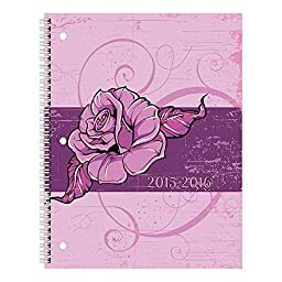 Brownline Monthly Academic Planner, July 2015 - August 2016, Poly Cover, Bloom, Assorted Designs, Design May Vary, 11 x 8.5 inches (CA701PT.ASX-16)