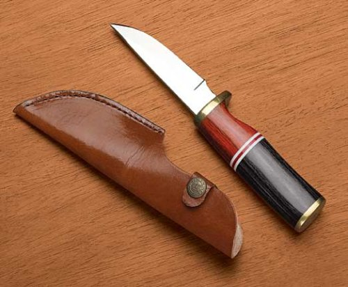 Exotic Wood Hunting Knife