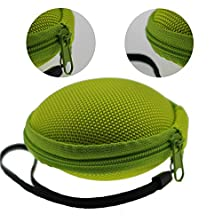 buy Litop® Light Green Color Clamshell Mesh Style Handsfree Headset Hard Earphone Usb Cable Eva Case Bag With Zipper Enclosure,Inner Pocket, Mesh Pocket For Apple, Sennheiser, Sony, Bose, Panasonic, Samsung Plus, Mp3/Mp4 Bluetooth Earphone Earbuds And Cost-Fr