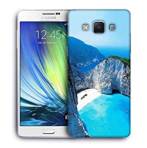 Snoogg White And Green Mountain Designer Protective Phone Back Case Cover For Samsung Galaxy A7