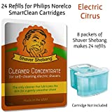 24 Refills for Philips Norelco SmartClean Cartridges - Electric Citrus
