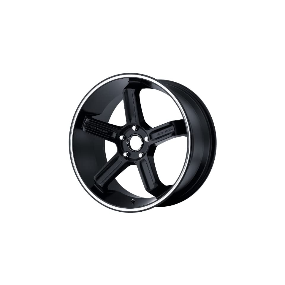 Motegi MR122 20x9.5 Black Wheel / Rim 5x4.5 with a 24mm Offset and a 72.60 Hub Bore. Partnumber MR12229512724