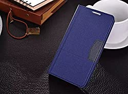 Best Deals - New Premium Quality PU Leather Stand Protective Flip Flap Cover Case For Samsung Galaxy Note4 - Blue