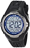 Timex Men's T5K680 1440 Sports Digital Full-Size Black/Blue Resin Strap Watch