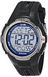 Timex Men's T5K680 1440 Sports Digital Full-Size Black/Blue Resin Strap Watch