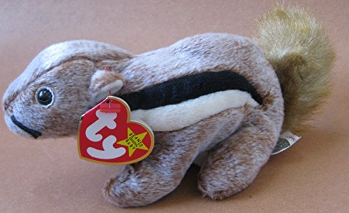 TY Beanie Babies Chipper the Chipmunk Plush Toy Stuffed Animal - 1