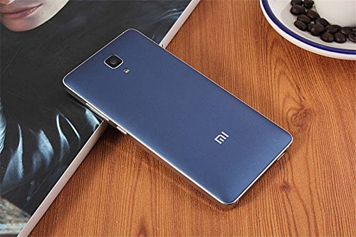 Luxury matte battery cover case with Mi Logo for Xiaomi Mi4 M4 with Suction Cup to remove the back cover - Blue