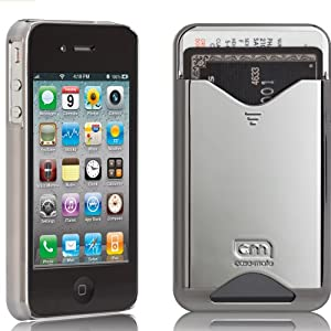 Case-Mate ID Credit Card Slim Case for iPhone 4 (Silver)