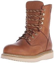Georgia Boot Men\'s 8 Inch Wedge St Work Shoe, Barracuda Gold, 10.5 W US