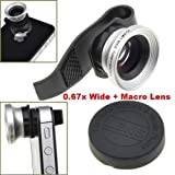 BestDealUSA 0.67x Wide Angle + Detachable Macro Camera Lens for iPhone 4G 4S/iPad 2/New iPad