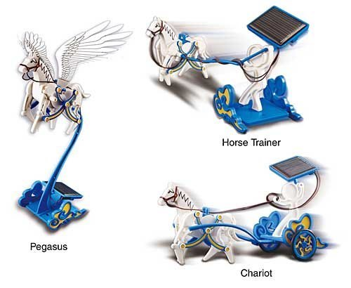 3 in 1 Solar Flying Kit Including Pegasus , Horse Trainer and Chariot , Eco Science Educational Toy and Demonstration Kit , Great Gift