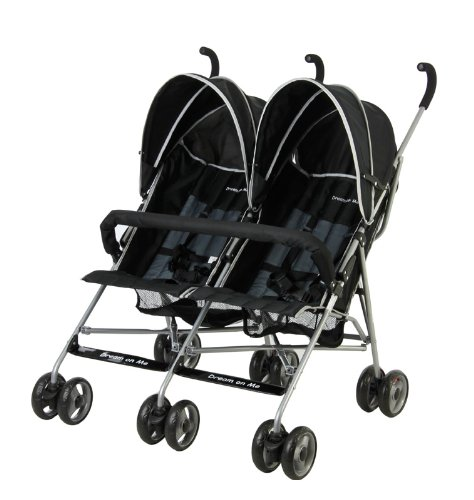 Dream On Me Dream On Me Double Twin Stroller, Black