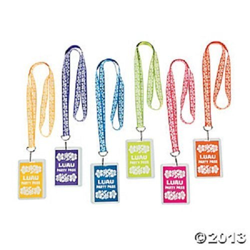 LUAU PARTY PARTY LANYARDS (1 DOZEN) - BULK by Fun Express