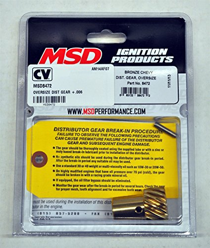 MSD Ignitions 8472 Oversize Chevy Distributor Gear, Bronze (1993 Corvette Distributor Msd compare prices)