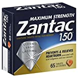 Zantac 150 Acid Reducer, Maximum Strength, 150 mg, Tablets, 65 tablets