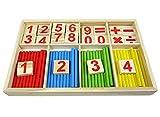 Habba-Babba Montessori Mathematik Spielzeug aus Holz zum Zahlen lernen mit Rechen-Stäbchen, Bunt / Natur ab 3 Jahre für die frühe Motorik Entwicklung & Ausbildung ihres Kindes thumbnail