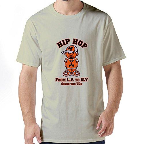 Men'S Hip Hop Custom Made Large O-Neck Tee Shirt By Dingding