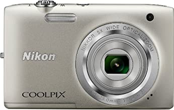 Nikon Coolpix S2800 20.1 MP Point and Shoot Digital Camera with 5x Optical Zoom (Silver)