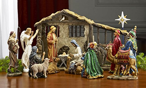 Deluxe-Edition-16-Piece-14-inch-Nativity-Set-with-Real-Frankincense-Gold-and-Myrrh