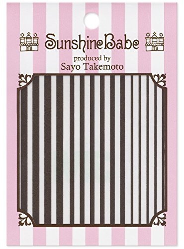 SunshineBabe ネイルシール ストライプ グレー mix