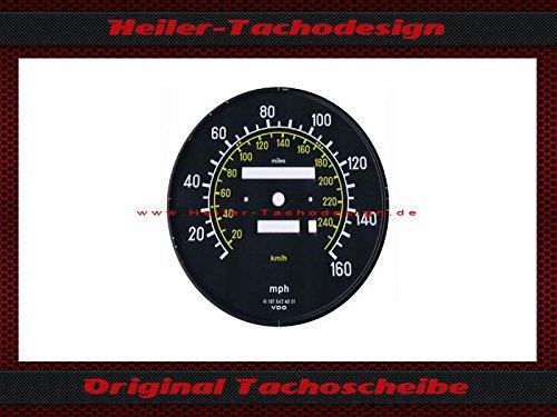 Tachoscheibe Mercedes 300Sl W107 R107 Elektronischer - Tacho Mph zu Kmh