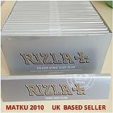 Rizla Rolling Paper 50pks/Box - Silver King Size Slim