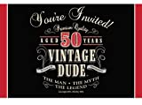 Creative Converting Vintage Dude 8 Count 50th Birthday Party Invitations