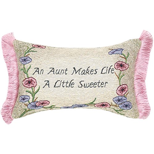 Manual 12.5 X 8.5-Inch Decorative Throw Pillow With Fringe, An Aunt Makes Life front-1067795