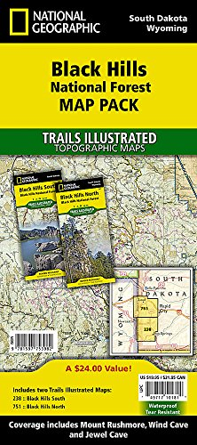 Black Hills National Forest [Map Pack Bundle] (National Geographic Trails Illustrated Map) (Map Central South America compare prices)